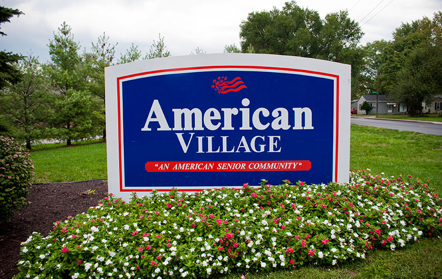 American Village healthcare front sign