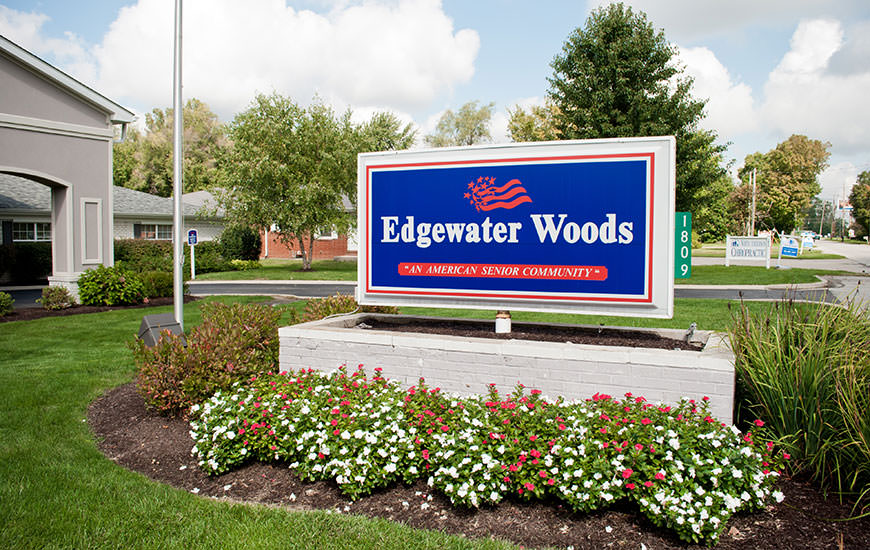Edgewater Woods sign