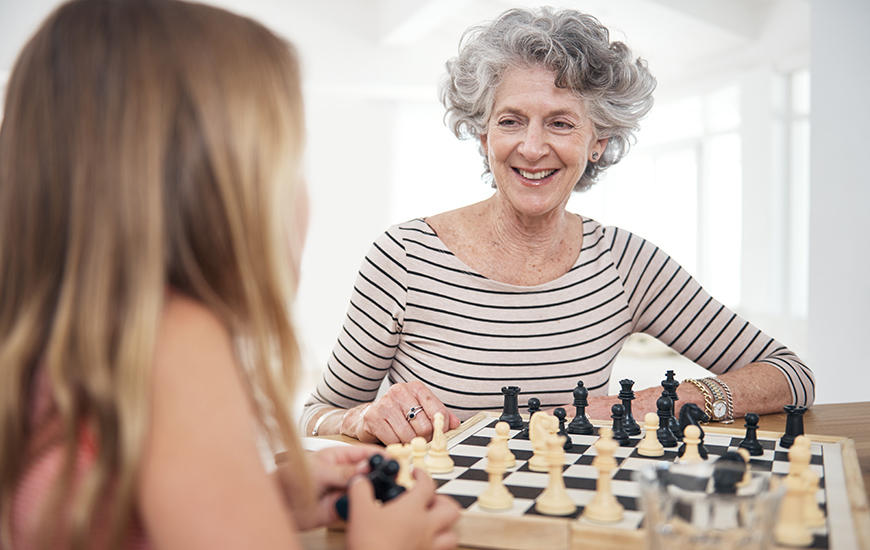 Spring Mill Meadows resident playing chess