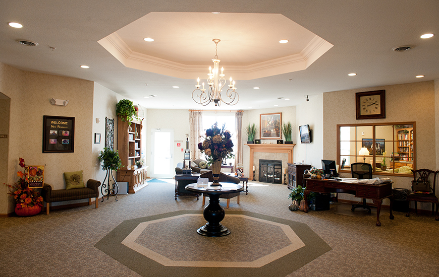 coventry meadows assisted living lobby