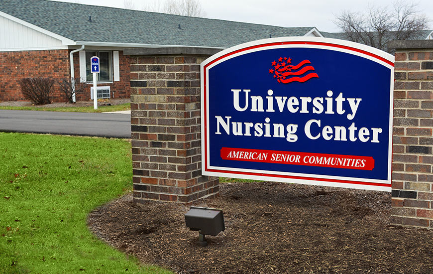 University Nursing Center sign